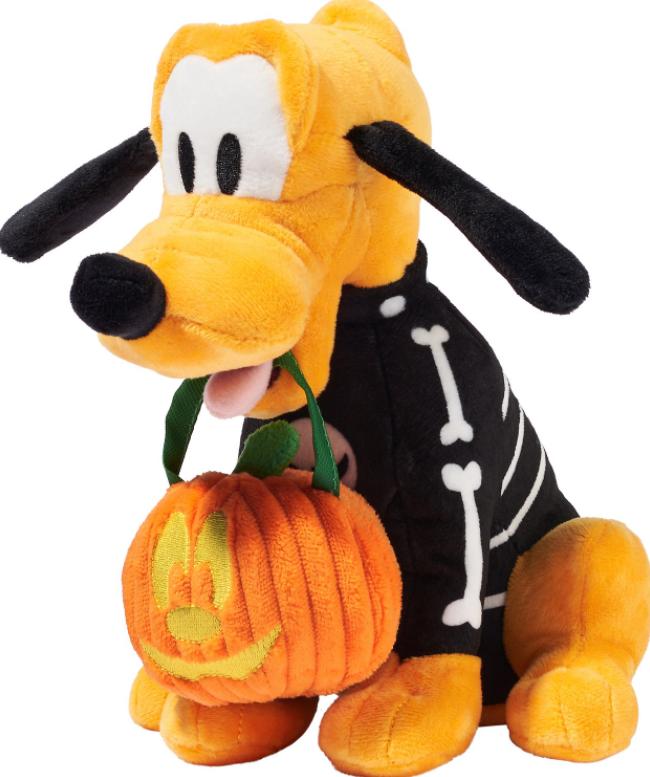 DISNEY Halloween Pluto Plush Squeaky Dog Toy